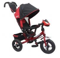 Трехколесный велосипед детский SAFARI Trike Car, фара, надувные колеса 12/10, от 1 года, красный