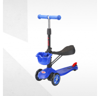 Самокат-беговел с корзинкой Tech Team Sky Scooter new, синий