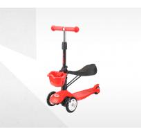 Самокат-беговел с корзинкой Tech Team Sky Scooter new, красный