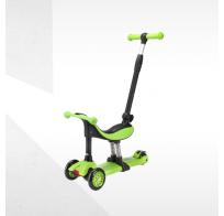 Самокат-беговел Tech Team Genius, 3 в 1, зеленый