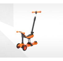 Самокат-беговел Tech Team Genius, 3 в 1, оранжевый