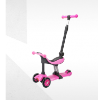 Самокат-беговел Tech Team Genius, 3 в 1, розовый