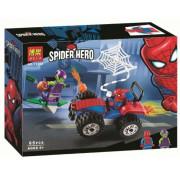 Конструктор BELA Super Heroes 11184 Автомобильная погоня Человека-Паука 65 деталей
