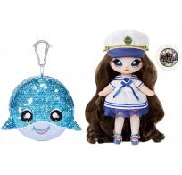 Кукла Na Na Na Surprise Sparkle Series 1 Sailor Blu (синий кит, морячка): первая сверкающая серия с 6 мягкими куклами 573753