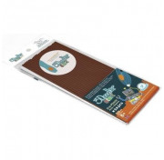 Эко-пластик к 3Д ручке 3DOODLER START Коричневый 24 шт. 3DS-ECO11-BROWN-24  Wobble Works