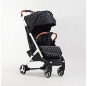 Прогулочная детская коляска Yoya Plus 3 2019, звёзды (черно-белая рама)