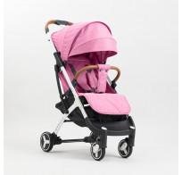 Прогулочная детская коляска yoya plus 3 2019, розовая (черно-белая рама)