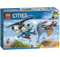 Конструктор Lari Cites Воздушная полиция: погоня дронов 210 деталей 11207