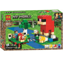 Конструктор Minecraft Lari My world - Шерстяная ферма 266 деталей 11361