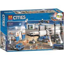 Конструктор Lari Cities - Площадка для сборки и транспорт для перевозки ракеты 1097 деталей 11388