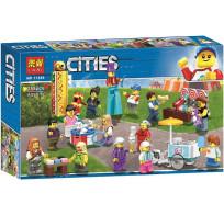 Конструктор Lari Cities - Комплект минифигурок «Весёлая ярмарка» 259 деталей 11389