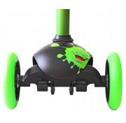 Самокат трехколесный Y-SCOO RT TRIO DIAMOND 120 Monsters 1 высота с блокировкой колес green Zoko
