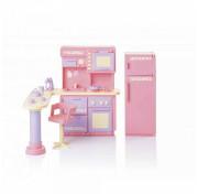 Набор мебели для кукол Огонёк Кухня Маленькая принцесса, розовая (С-1436) ОГ1436