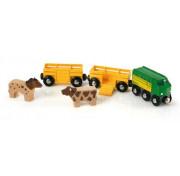 BRIO 3 грузовых вагона с животными, 5 элементов 33404