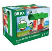 BRIO Ж/д мини-станция с функцией записи голоса 33840
