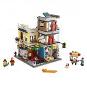 Конструктор LEGO Creator Зоомагазин и кафе в центре города 31097