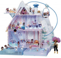 Игровой дом LOL Surprise Winter Disco House Зимнее Шале с семьей кукол 562207 с 95 сюрпризами