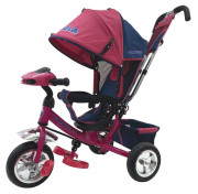 Велосипед 3-х колесный Trike с надувными шинами. Цвет вишневый