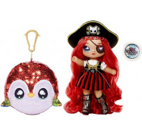 Кукла Na Na Na Surprise Sparkle Series 1 Pirate Becky Buckaneer (попугай, пиратка): первая сверкающая серия с 6 мягкими куклами 573791