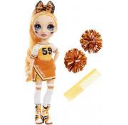 Кукла Rainbow High Cheerleader Squad Poppy Rowan orange, оранжевая кукла-чирлидер 572046