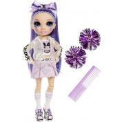 Кукла Rainbow High Cheerleader Squad Violet Willow purple, фиолетовая кукла-чирлидер 572084
