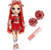 Кукла Rainbow High Cheerleader Squad Ruby Anderson red, красная кукла-чирлидер 572039