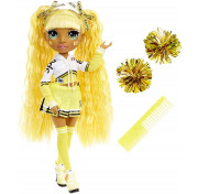 Кукла Rainbow High Cheerleader Squad Sunny Madison yellow, желтая кукла-чирлидер 572053