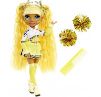 Кукла Rainbow High Cheerleader Squad Sunny Madison yellow, желтая кукла-чирлидер 572053
