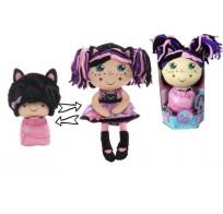 Девчушка вывернушка Танюшка Т13639 1TOY кукла плюшевая 2в1