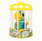 Интерактивный попугай Benny 95021 (зеленый), повторяет слова, шевелит клювом, мягконабивной