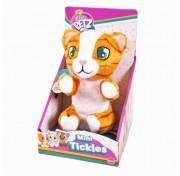 Интерактивный котенок 96790 со звуковыми эффектами, шевелит лапками если почесать животик, рыже-полосатый