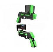 Бластер интерактивный 1Toy Т12347 AR GUN Blaster, пистолет дополненной реальности, зеленый