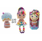 Девчушка вывернушка Настюшка Т13637 1TOY кукла плюшевая 2в1