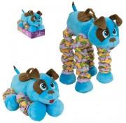 Мягкая функциональная игрушка Пружиножки Голубой Щенок со звуком, Т13878 1TOY