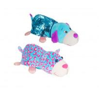 Плюшевая игрушка из серии Вывернушка Блеск с пайетками 2в1 Котик-Щенок, 30 см