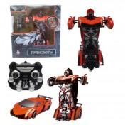 1toy Робот на р/у 2,4GHz, трансформирующийся в спортивный автомобиль, 30 см, оранжевый Т10858