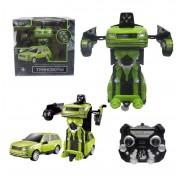 1toy Робот на р/у 2,4GHz, трансформирующийся в джип, 20 см, зелёный Т10866