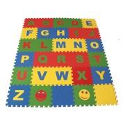 Мягкий пол из пазлов 25 МПД 2/ А развивающий Английский Алфавит 2 кв.м - 32 детали 25x25