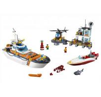 Конструктор BELA Cities 10755 Штаб береговой охраны