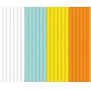 Эко-пластик Лед и Пламень к 3Д ручке 3 Doodler, 24 штуки, 4 цвета: мятный, белый, желтый, оранжевый Limited, 3DS-ECO-MIX1-24) Wobble Works