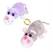 Детская мягкая игрушка Перевертыши - Вывернушки Teddy, Кот-Мышка, 16 см Abtoys