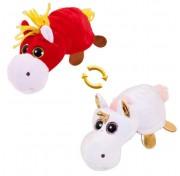 Детская мягкая игрушка Перевертыши - Вывернушки Teddy M5016, Лошадка - Единорог, 16 см Abtoys