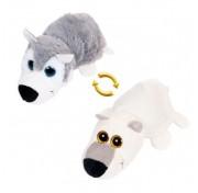 Детская мягкая игрушка Перевертыши - Вывернушки Teddy M5007, Волк - Белый медведь, 16 см Abtoys
