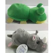 Детская мягкая игрушка Перевертыши - Вывернушки Teddy M5019, Лягушка - Носорог, 16 см Abtoys