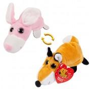Детская мягкая игрушка Перевертыши - Вывернушки Teddy M5011, Лиса - Заяц, 16 см Abtoys