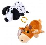 Детская мягкая игрушка Перевертыши - Вывернушки Teddy M5013, Собака - Бык, 16 см Abtoys