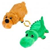 Детская мягкая игрушка Перевертыши - Вывернушки Teddy M5007, Медведь - Крокодил, 16 см Abtoys
