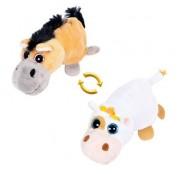 Детская мягкая игрушка Перевертыши - Вывернушки Teddy M5010, Лошадка - Корова, 16 см Abtoys