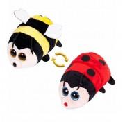 Детская мягкая игрушка Перевертыши - Вывернушки Teddy M5009, Пчелка - Божья коровка, 16 см Abtoys