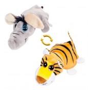 Детская мягкая игрушка Перевертыши - Вывернушки Teddy M5006, Слон-Тигр, 16 см Abtoys
